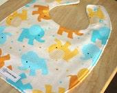 SALE -- Flannel Zoo Animals | Plastic Lined Bibs