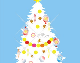 Christmas clipart Christmas Trees - Green Pink White Blue - 7 Clip Art Images for cards and scrapbooking  - instant download - CU OK