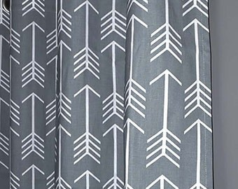 "Blackout Lined ARROW Grommet Curtains - FREE SHIPPING - Choose Your Length - 50"" Wide x 60, 72, 84, 90, 96, 108 or 120"" Long"