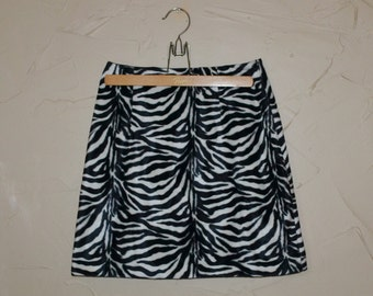 Mini Skirt Zebra Skirt Zebra Mini Skirt Black and White Skirt Short Skirt Zebra Print Animal Print Skirt Rave Punk Club Kid Skirt
