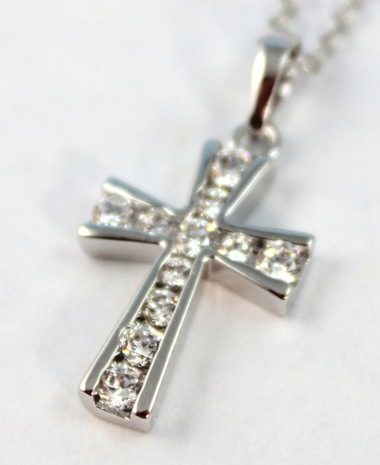 cross necklace women white gold filled women high quality. Black Bedroom Furniture Sets. Home Design Ideas