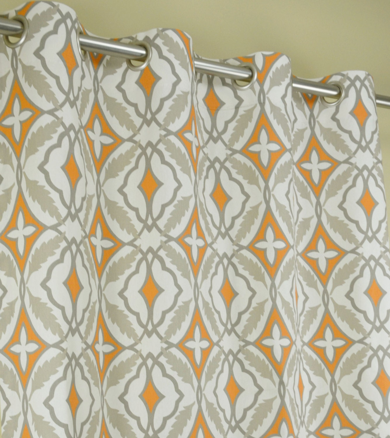 orange and gray curtains - photo #45