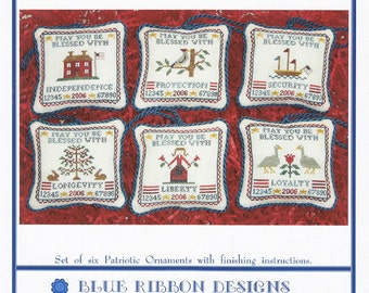 Patriotic Wishes Volume 2 (BRD-034) Cross Stitch Design