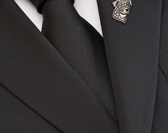 Rottweiler brooch - sterling silver.