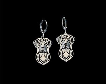 Labrador Retriever earrings - sterling silver