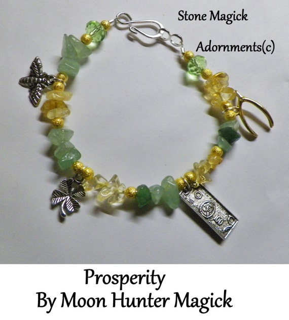 Stone Magick Prosperity Bracelet 20+ years experience Crystal Healing Reiki