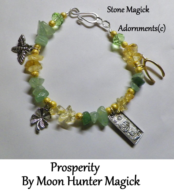 Stone Magick Prosperity Bracelet Money Drawing Charm ...