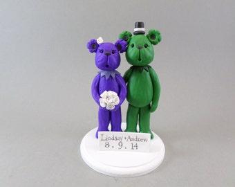 Custom Handmade Bear Wedding Cake Topper