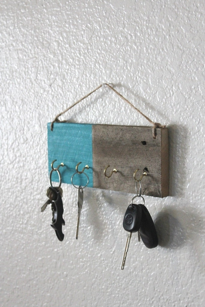 Https Etsy Com Listing 126661193 Turquoise Home Decor Key Rack Reclaimed