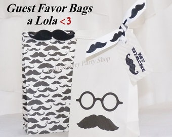 ReTrO MY Stache favor party bags Mustache VinTaGe FUN Vintage ReaDY To Fill with Candy, Novelties, Baked Goodies,PaRtY FAVORS