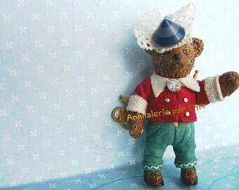 """Animal Brooch """" Antique Bear """""""
