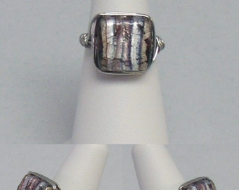 Square Foil Wire Wrap Ring