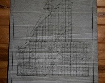 Map of L'anse Township, Baraga County, Michigan, Early 1900s, Hand Drawn Original