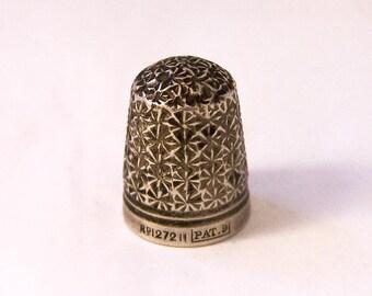 Vintage Charles Horner Thimble, Early Dorcas Thimble, Victorian Thimble