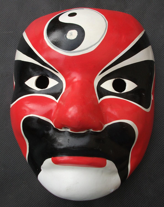 Japanese Kabuki Noh Theatre Mask Traditional Folk Art Hand