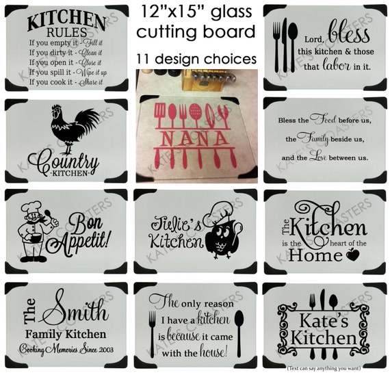 Glass Cutting Boards With Designs