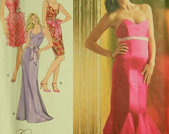 "Evening Dress by Laura Lynn - 2000's - Simplicity  Pattern 2639 Uncut  Sizes 12-14-16-18-20  Bust 34-36-38-40-42"""