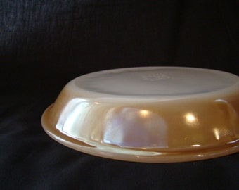 Vintage Fire King Pie Plate, Pattern: Copper Tint