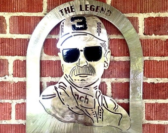 Handcrafted Metal Dale Earnhardt Sr Plaque