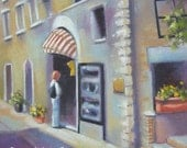 Assisi Shopper...Original Oil Painting by Maresa Lilley, SND