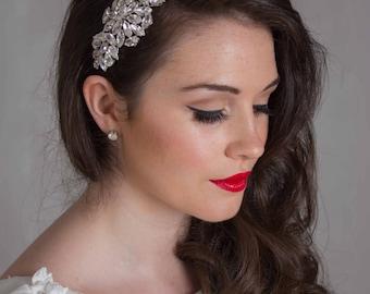 Bridal Hair Accessory, Tiara, side Tiara - Ophelia Headpiece