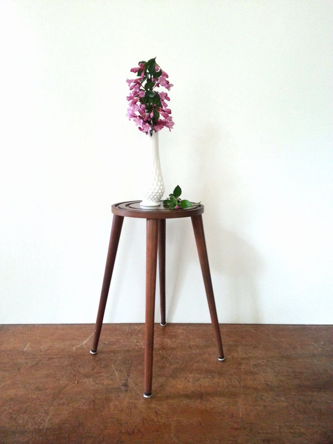 plant stand side table mid century modern 50s 60s danish. Black Bedroom Furniture Sets. Home Design Ideas