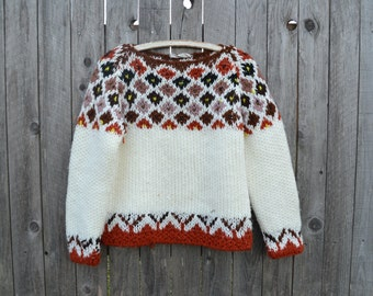 Vintage Karr's Imports Woven Sweater// Large