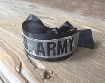 military acu name tape U.S. ARMY bracelet / Army Wife / Army Girlfriend / Army Mom / Army Sister