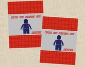 Valentine DIY Printable Fresh & Fun Personalized Lego Card