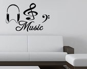 Wall Quotes Music Wall Decal Art Vinyl Sticker Decal Music Decal Quote Removable Wall Sticker Wall Decal Quote (C180)