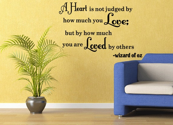 A Heart is Not Judged Wall Decal Quote by SuperDecorations