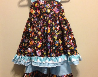 Sophia's Open Back Ruffled Dress and Ruffled Pant Set