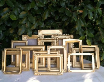Wedding Frames, Set of 25, Mix & Match,  5x7,4x6 Table Numbers,  Gold,  Baroque,  Ornate Frame (Los Angeles)