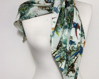 Rain Forest Animals Pattern Square Scarf, Scarves, Shawls, Spring - Fall - Winter - Summer fashion for her Cyber Monday Sale