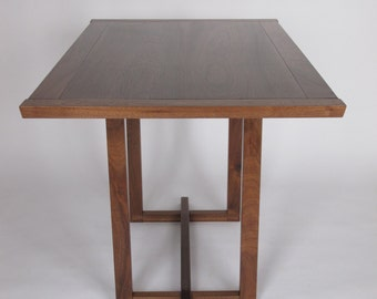 Narrow Dining Table: for a small dining room, pedestal table, breakfast nook, eat in kitchen table- Handmade Wood Furniture