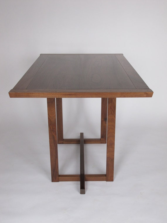 Narrow Dining Table: for a small dining room, pedestal table ...