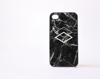 Black Marble iPhone 4 Case - Geometric iPhone 4s Case - Black Marble Print iPhone 5 Case - Geometric iPhone Case - Accessories for iPhone 5s