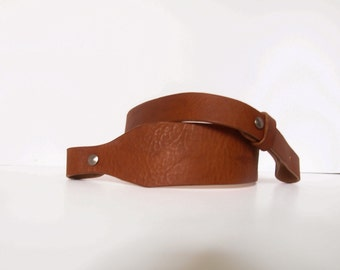 SALE Leather Rifle Sling Adjustable Aussie Leather Made in USA