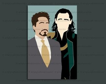 Frostiron 6 x 4 art print – Loki x Tony Stark OTP – Frostiron – Iron Man x Loki – Avengers fandom