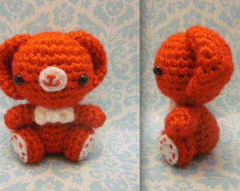 Items similar to Valentines bear amigurumi crochet teddy ...