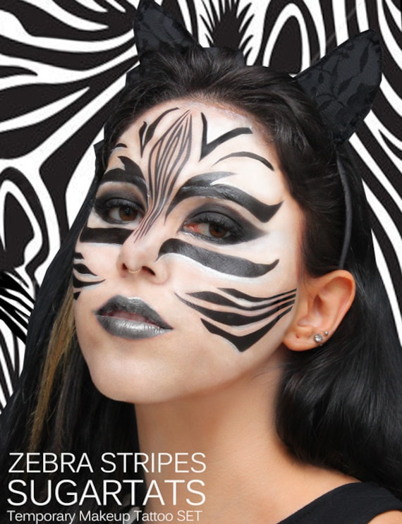 zebra makeup for kids images. Black Bedroom Furniture Sets. Home Design Ideas
