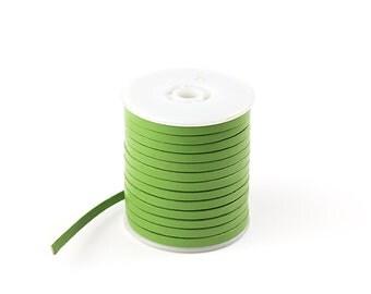 4x1mm Flat Leather Cord, 3 Yard Light Green Genuine Leather Cord, Flat Leather Strip, Leather Bracelets, Pkg of 3 Yard, D0PR.LG52.L3Y