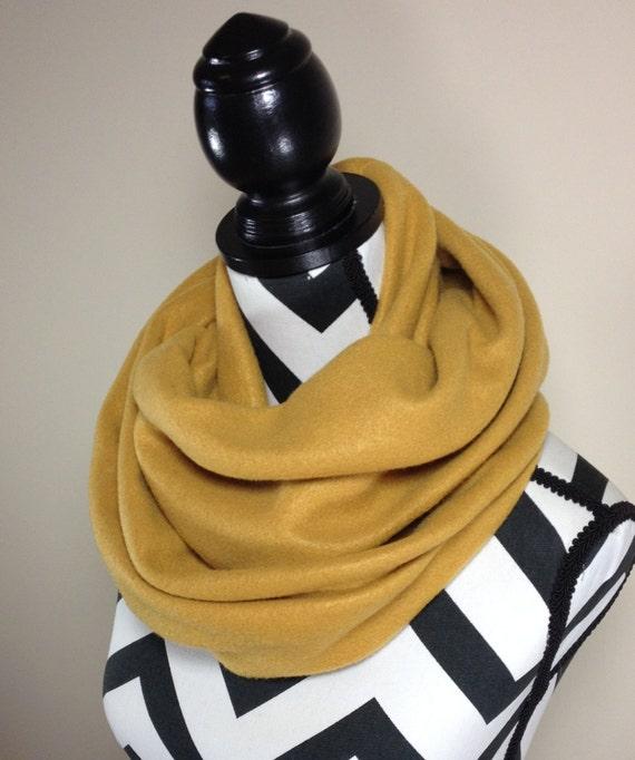 Items Similar To Camel Scarf Tan Fleece Infinity Scarf