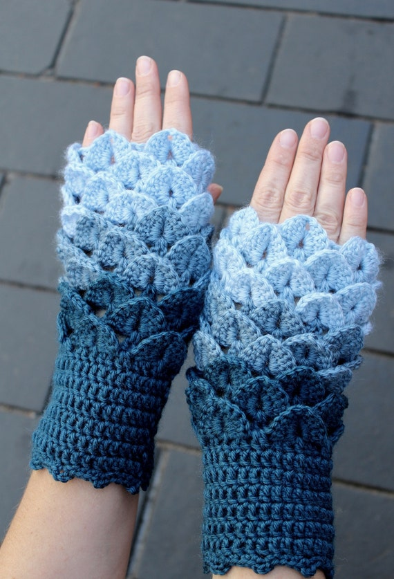 Hand crocheted fingerless gloves gloves amp mittens winter accessories