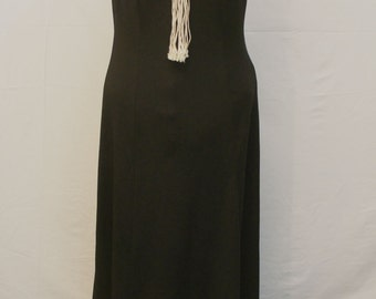 Women's Long Black Sleeveless Dress by Toni Todd Size 10