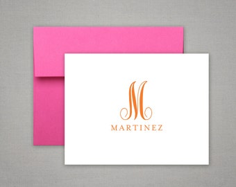 Monogram Gift - Personalized Stationery - Folded Notes with Name - Personalized Stationary