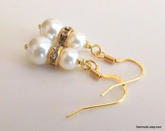 Flower girl earrings, flower girl gift, flower girl jewelry, pearl earrings, girls pearl earrings, wedding jewelry, girls earrings