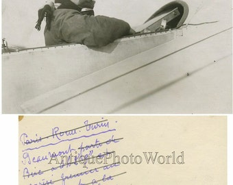 Andre Beaumont Conneau French aviator antique photo