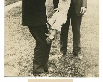 President Coolidge Senator Smoot w baby antique photo