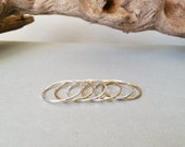 Mixed Metals Stacking Rings - 14k gold fill and sterling silver, choose your set / hammered, boho, simple, hippie, minimalist, everyday wear